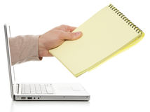 Notepad for PC Stock Image