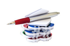 Notepad and pen. Royalty Free Stock Photo