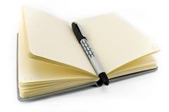 Notepad and pen Stock Photos