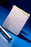 Notepad with pen Royalty Free Stock Photography