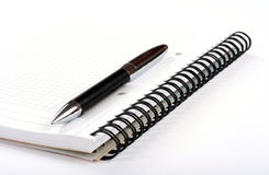 Notepad and pen Royalty Free Stock Photography