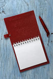 Notepad with pen Royalty Free Stock Image