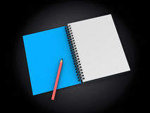 Notepad with pen Royalty Free Stock Photo