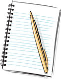 Notepad and Pen Fashion Style Illustration Stock Photography
