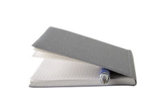 Notepad with pen Stock Photography
