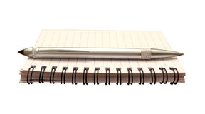 Notepad and Pen Isolated Royalty Free Stock Image