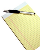 Notepad and pen on isolted background Royalty Free Stock Image