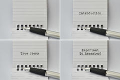 Notepad and a pen Royalty Free Stock Images