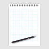 Notepad and a pen Stock Photography