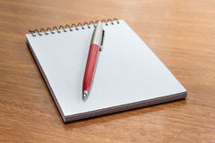 Notepad And Pen Stock Image