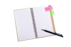 Notepad with a Stock Photo