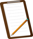 Notepad and pencil. A simple illustration of a notepad with a pencil Royalty Free Stock Image