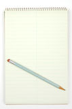Notepad and pencil Stock Image