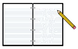 Notepad with pencil Royalty Free Stock Images