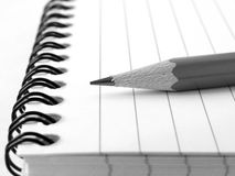 Notepad with pencil 5 Royalty Free Stock Photography