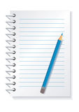 Notepad_pencil vector illustration