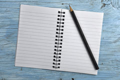 Notepad with pencil Royalty Free Stock Image