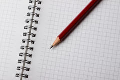 Notepad and Pencil Stock Photography