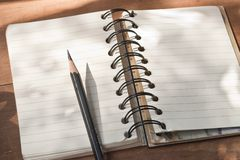 Notepad and pencil. Search for Ideas Royalty Free Stock Photography
