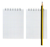 Notepad and Pencil Set. Highly Detailed, Ready for Your Message Stock Images
