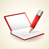 Notepad with pencil - vector Royalty Free Stock Image