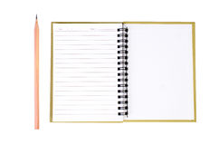 Notepad and pencil Royalty Free Stock Photos