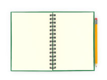 Notepad with pencil Stock Images