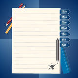 Notepad and pencils vector illustration Royalty Free Stock Image