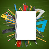 Notepad and pens Royalty Free Stock Images