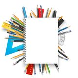 Notepad and pens Royalty Free Stock Photo