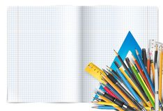 Notepad and pens Royalty Free Stock Photos