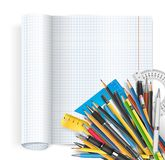 Notepad and pens Stock Photography