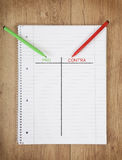 Notepad per contra Royalty Free Stock Images