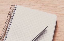 Notepad and personal diary or organizer with pen Royalty Free Stock Photos