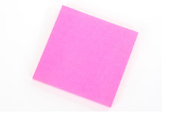 Notepad pink oblique Stock Image