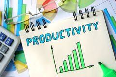 Notepad with Productivity. Stock Photos