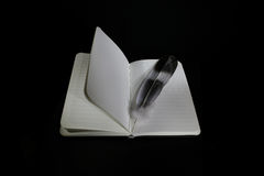 NOTEPAD WITH QUILL Stock Image