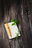 Notepad for recipes Royalty Free Stock Photo
