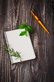Notepad for recipes Royalty Free Stock Photos