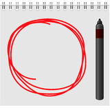 Notepad with red marker text box Royalty Free Stock Image
