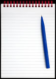 A notepad with red rings. Royalty Free Stock Photos