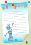 Notepad - Robot Royalty Free Stock Image