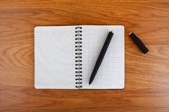 Notepad with a spiral binding Royalty Free Stock Photos