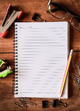 Notepad with a spiral binding Royalty Free Stock Image