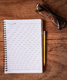 Notepad with a spiral binding Royalty Free Stock Images