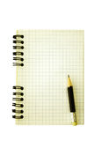 notepad stara ołówka spirala Zdjęcia Stock