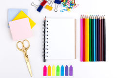 Notepad and stationery Royalty Free Stock Images