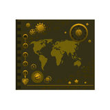 Notepad Steampunk style Royalty Free Stock Photography