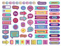 Free Notepad Stickers. To Do Sticky For Planner Agenda Status Check List Trendy Lettering For Organizer Vector Stock Photography - 166901452