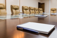 Notepad on a table royalty free stock photography